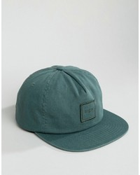 Gorra de béisbol verde oscuro de HUF