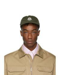Gorra de béisbol verde oscuro de Moncler
