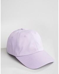Gorra de béisbol violeta claro de Asos