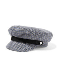 Gorra inglesa a cuadros gris de Rag & Bone