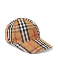 Gorra inglesa a cuadros marrón claro de Burberry