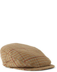 Gorra inglesa de cuadro vichy marrón