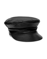 Gorra inglesa de cuero negra de Lack of Color