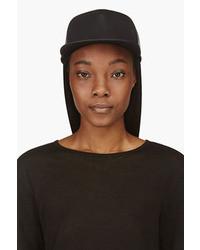 Gorra inglesa de cuero negra de Rick Owens