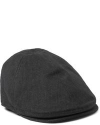 Gorra inglesa de espiguilla en gris oscuro de Dolce & Gabbana
