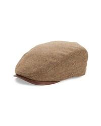 Gorra inglesa de espiguilla marrón