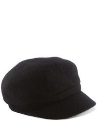 Gorra inglesa de lana negra