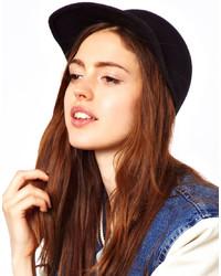 Gorra inglesa de lana negra de Asos