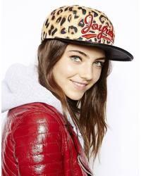 Gorra inglesa de leopardo marrón de Joyrich