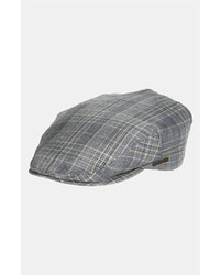 Gorra inglesa de tartán gris