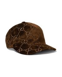 Gorra inglesa en marrón oscuro de Gucci