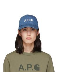 Gorra inglesa estampada azul