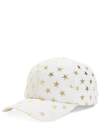 Gorra inglesa estampada blanca