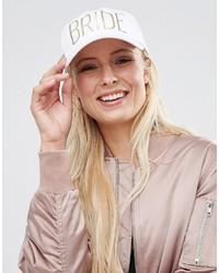 Gorra inglesa estampada blanca de Asos