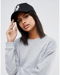 Gorra inglesa estampada negra de Asos