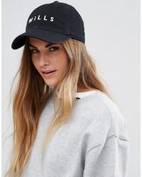 Gorra inglesa estampada negra de Jack Wills