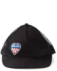 Gorra inglesa estampada negra de Love Moschino