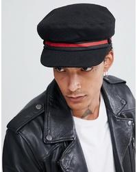 Gorra inglesa negra de ASOS DESIGN