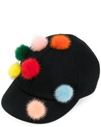Gorra inglesa negra de Fendi