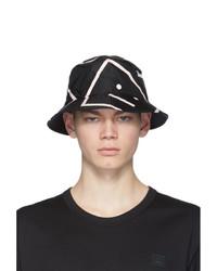 Gorro de pescador estampado en negro y blanco de Acne Studios