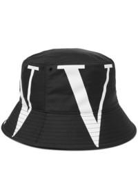 Gorro de pescador estampado en negro y blanco de Valentino