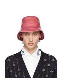 Gorro de pescador estampado rosado de Gucci