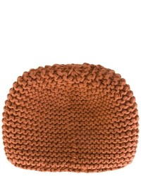 Gorro de punto marrón de Telfar