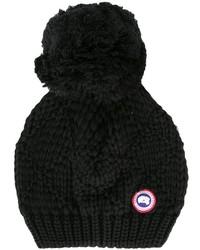 Gorro de punto negro de Canada Goose