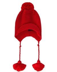 Gorro de punto rojo