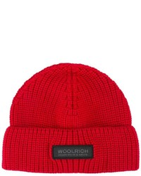 Gorro de punto rojo de Woolrich