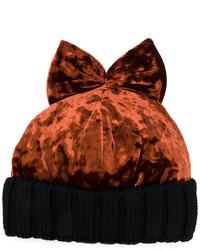Gorro de terciopelo marrón de Federica Moretti