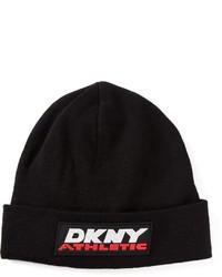 Gorro estampado en negro y blanco de DKNY