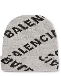 Gorro estampado gris de Balenciaga