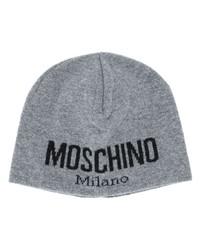 Gorro estampado gris de Moschino