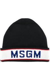 Gorro estampado negro de MSGM