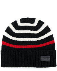 Gorro estampado negro de Saint Laurent