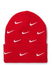Gorro estampado rojo de Nike