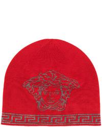 Gorro estampado rojo de Versace