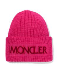 Gorro rosa de Moncler