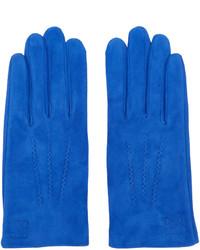 Guantes de ante azules de Loewe