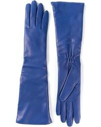 Guantes de cuero azules de P.A.R.O.S.H.