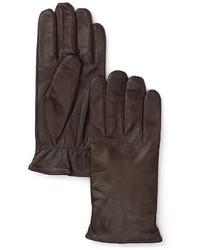 Guantes de cuero en marrón oscuro
