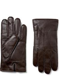 Guantes de Cuero Marrón Oscuro de Polo Ralph Lauren