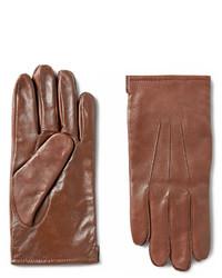 Guantes de cuero marrónes de J.Crew