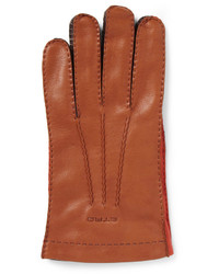 Guantes de cuero marrónes de Etro