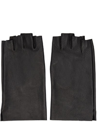Guantes de Cuero Negros de Attachment
