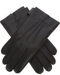 Guantes de Cuero Negros de Givenchy