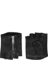 Guantes de cuero negros de Karl Lagerfeld