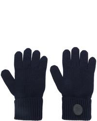 Guantes de lana azul marino de DSQUARED2