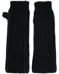 Guantes de lana azul marino de Marni